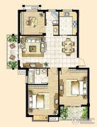 峰景湾3室2厅2卫110平方米户型图