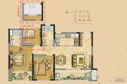 世茂新界3室2厅2卫87平方米户型图