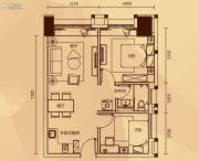 永润广场2室1厅1卫69平方米户型图