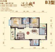 阳西温泉城2室2厅2卫101平方米户型图