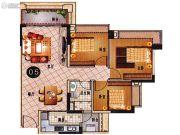 乐天峰公馆3室2厅1卫86平方米户型图