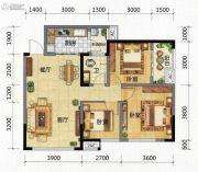 九腾1街区3室2厅1卫87平方米户型图