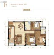 金辉御江府3室2厅2卫0平方米户型图