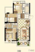 招商18723室2厅1卫88平方米户型图
