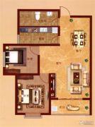 凤凰城2室2厅1卫96平方米户型图