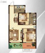 华明星海湾2室2厅1卫86平方米户型图