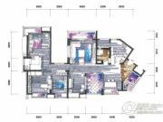 新鸿基悦城4室2厅2卫170平方米户型图