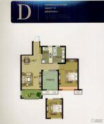 华明星海湾2室2厅1卫84平方米户型图