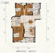 惠天然梅岭国际3室2厅2卫129平方米户型图