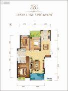 龙记玖玺3室2厅2卫117平方米户型图