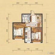 国茂清华园2室1厅1卫69平方米户型图