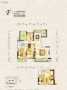 中天栖溪里2室2厅2卫168平方米户型图