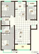 铂宫时代3室2厅2卫138平方米户型图