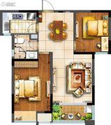 阳光100国际新城2室2厅1卫86平方米户型图