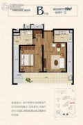 绿城长峙岛银杏园1室2厅1卫69平方米户型图