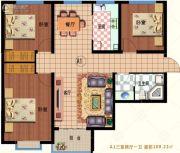 龙林・家天下3室2厅1卫109平方米户型图