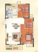 天鹅第一城3室2厅1卫121平方米户型图