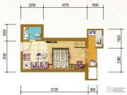 仁恒国际领寓1室1厅1卫33平方米户型图