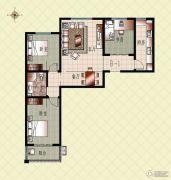 上起澜湾3室2厅1卫119平方米户型图