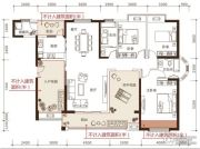 松江帕提欧3室2厅2卫169平方米户型图