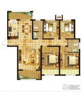 空港新城4室2厅2卫143平方米户型图