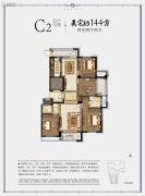 冠郡铭苑4室2厅2卫144平方米户型图