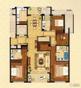 绿城・�Z园4室2厅3卫220平方米户型图