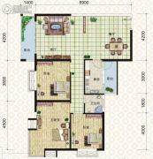 天元翡翠国际3室2厅1卫116平方米户型图