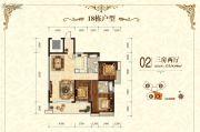 景新国际名城3室2厅2卫115平方米户型图