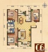 世嘉光织谷3室2厅2卫126平方米户型图