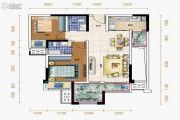 保利观澜2室2厅2卫66平方米户型图