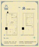 双城际・商务中心0室0厅0卫48平方米户型图