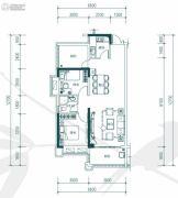 中惠�h园2室2厅1卫85平方米户型图