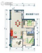 鑫海大厦2室2厅1卫87--106平方米户型图