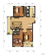 中原国际3室2厅1卫0平方米户型图