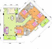 泰景花园4室2厅3卫140平方米户型图