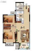 华瑞紫韵城2室2厅1卫74平方米户型图