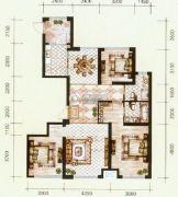 锦尚国际3室2厅2卫139平方米户型图