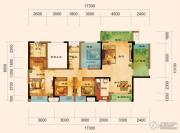 君汇上品3室2厅2卫128平方米户型图