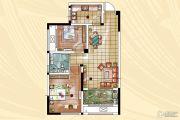 常发香堤半岛2室2厅1卫74平方米户型图