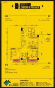 象山博望园2室2厅1卫46平方米户型图