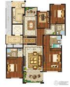 瀛海19城4室2厅3卫192平方米户型图