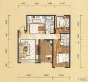 国茂清华园3室2厅2卫120平方米户型图