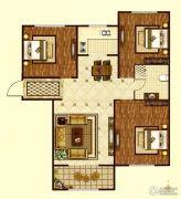 印象城・牛津花园3室2厅1卫93平方米户型图