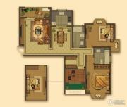 大名城3室2厅2卫123--128平方米户型图