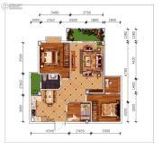 磁湖南郡4室2厅1卫101平方米户型图