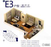 朗悦公园道1�1室1厅1卫58--90平方米户型图