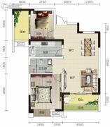 宏信依山郡3期2室2厅1卫87平方米户型图