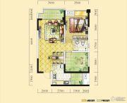 远达天际上城1室2厅1卫77平方米户型图