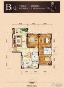 隆成城市之星3室2厅2卫0平方米户型图